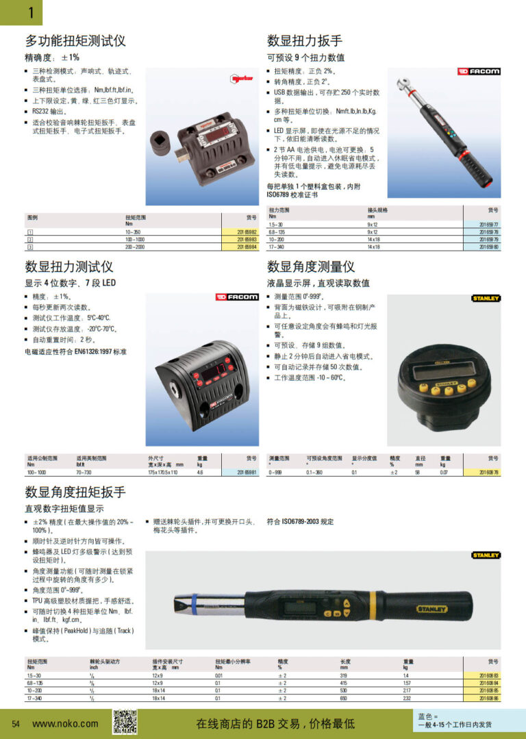 NOKO 手工具 数显扭力工具