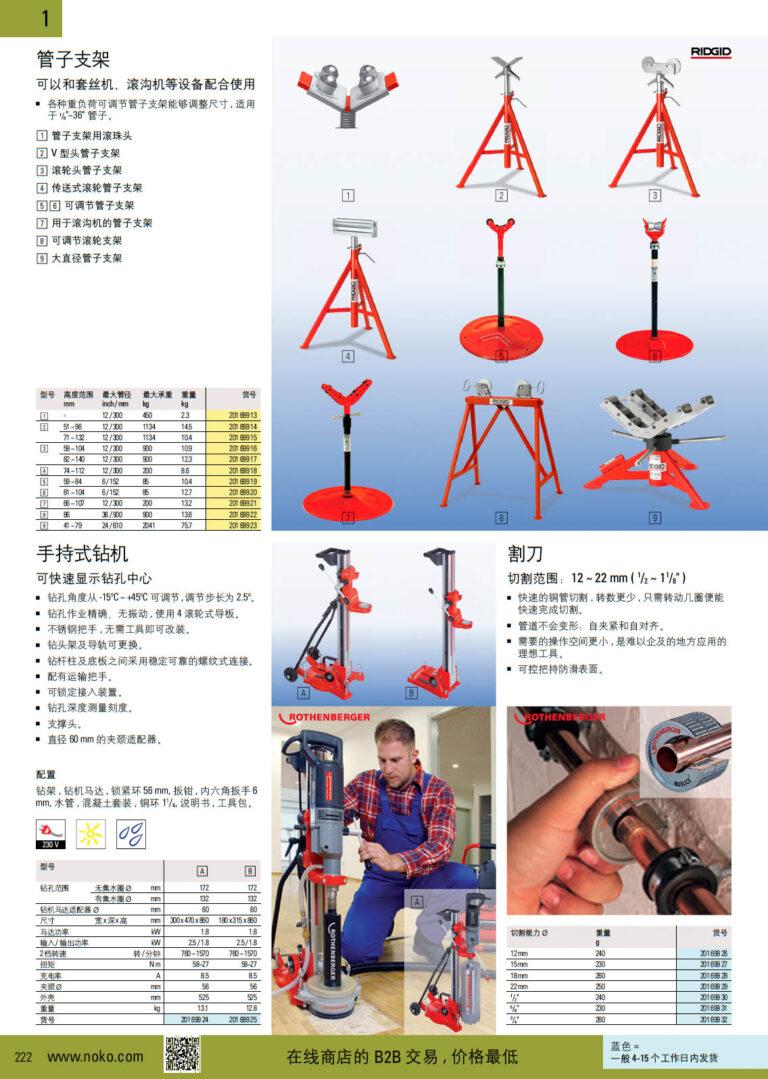 NOKO 手工具 管支架 钻孔机 切割器