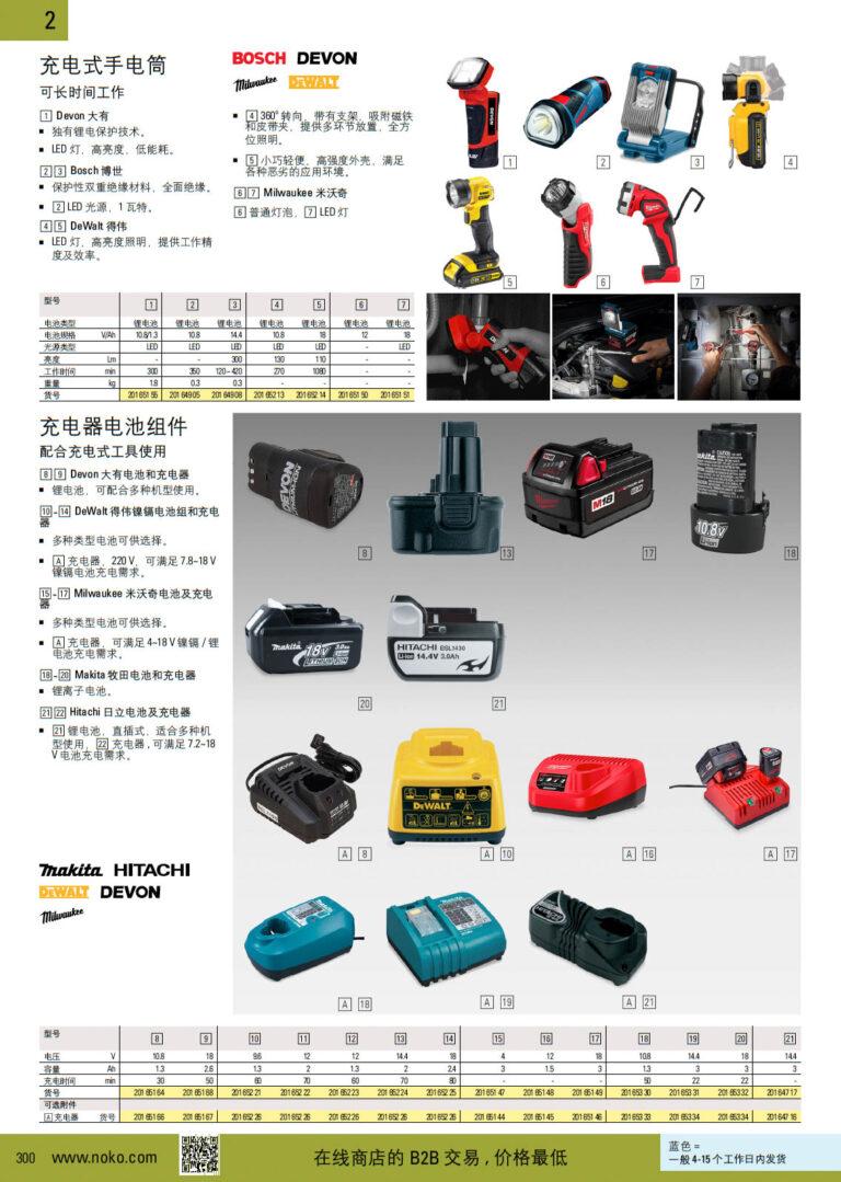NOKO 动力工具 电筒 电池组件 博世