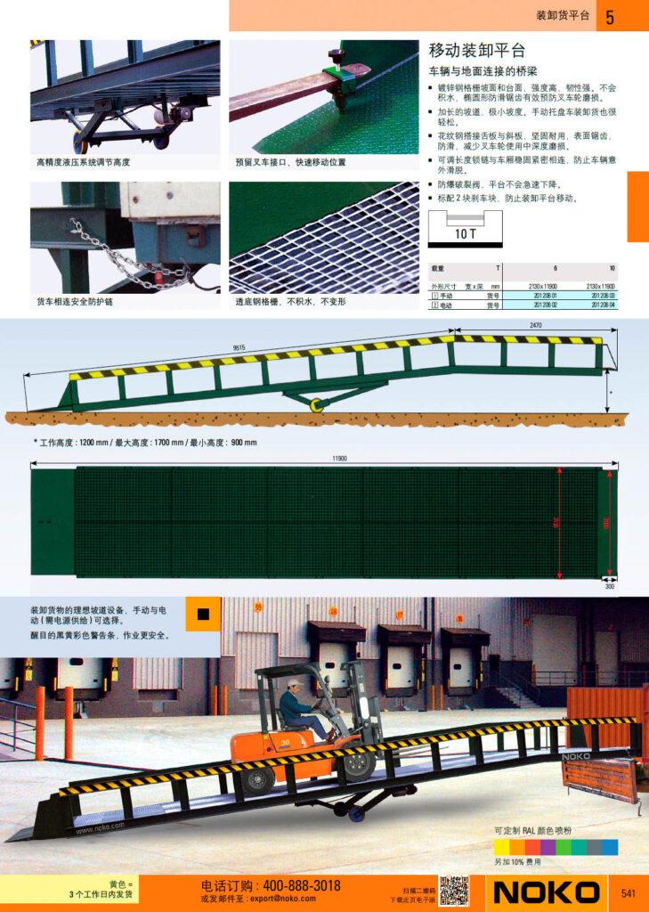 NOKO 起重设备 装卸货平台