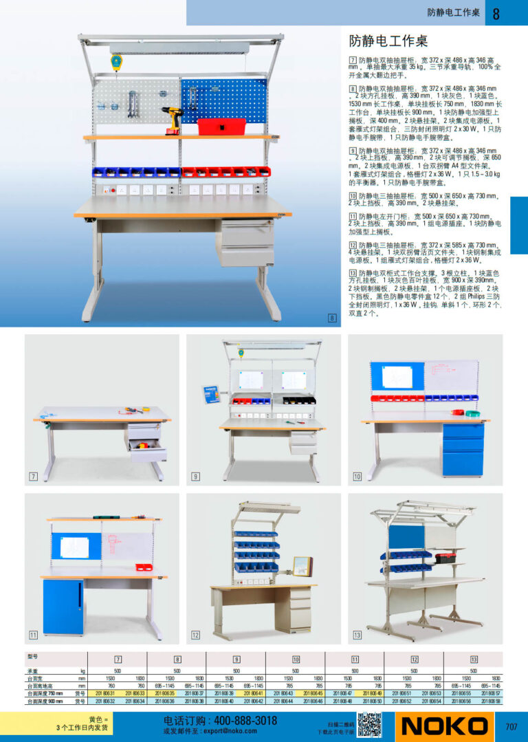 NOKO 工位器具 防静电工作桌