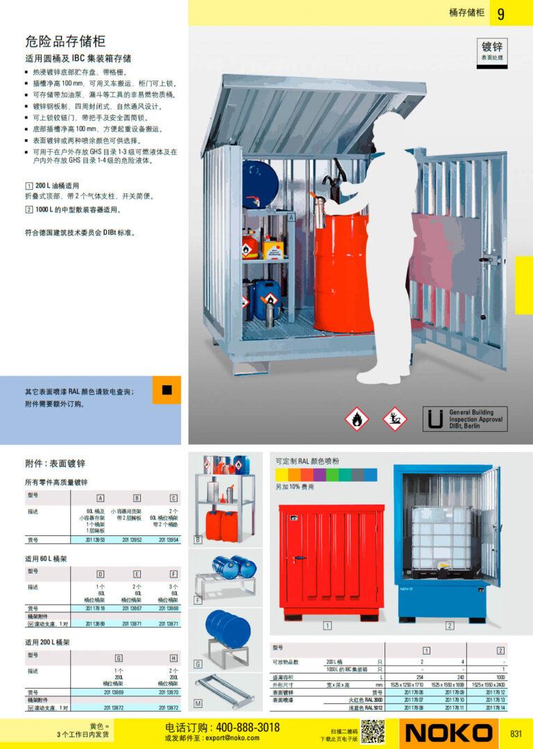 NOKO 安全 桶存储柜