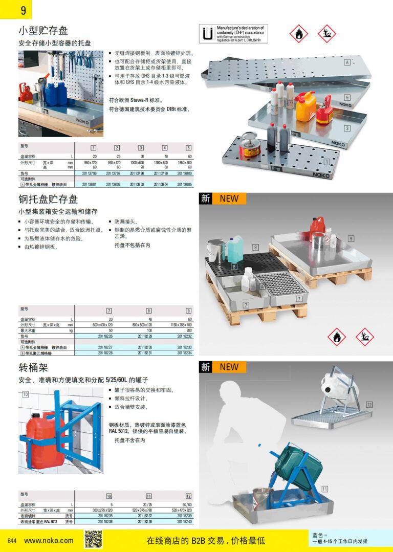 NOKO 安全 钢制贮存盘