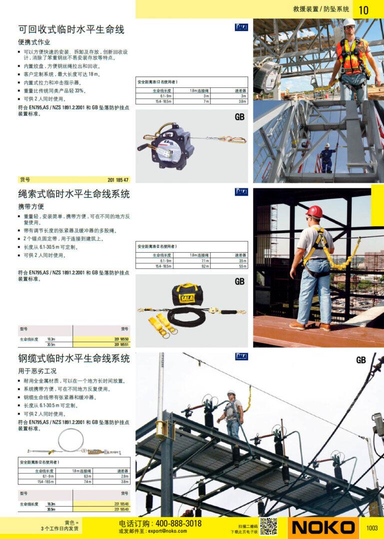 NOKO 个人防护救援 防坠系统 3M