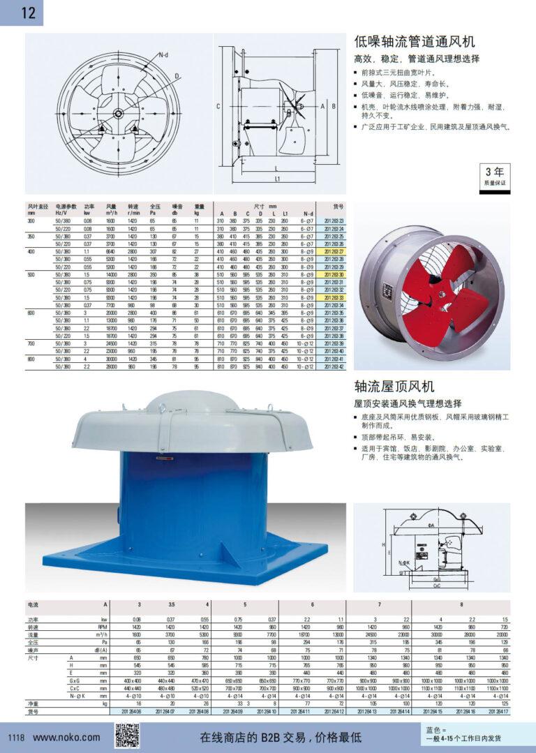 NOKO 通风设备 轴流风机