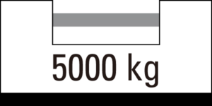 载重 5000kg
