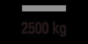 载重 2500kg